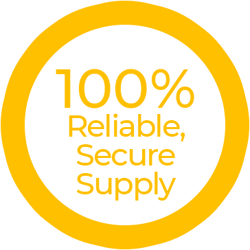100% reliability, secure supply